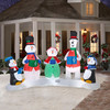 inflatable snowman band for christmas inflatable decoration