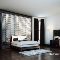 easy DIY home office decorative 3d wall panels