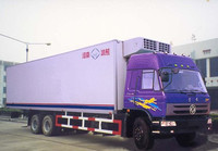 dongfeng 20t big van refrigerator truck 6x4 freezer truck refrigerator truck best cooling