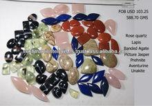 Natural semi precious gemstone cabochons lot