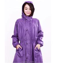 Alibaba custom service hot selling lady PVC rain coat