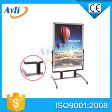 factory price high quality poster frame with steel foot