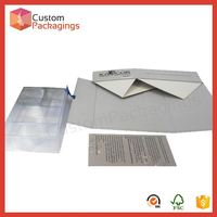 Custompackagings paper fold pack box white paper folding box