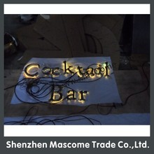 2015 new RGB front light led channel letters sign +backboard