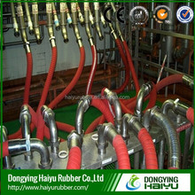High quality High Temperature High Pressure steel wire braided Rubber steam Hose with fitting