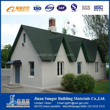 Fiber glass colorful roofing shingles prices