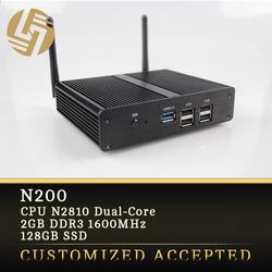 HTPC 1080p full hd mini pc 128GB SSD fanless mini itx thin client wifi