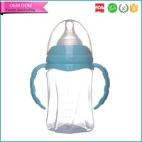 Novelty products for sell wide neck 240ml pp flexible handle plastic bottle
