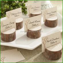 New Market Trend,Pure Original Wood Log Place Card Holder