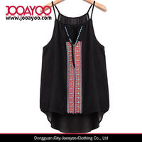 wholesale sleeveless sexy black lace ladies new design fashion top