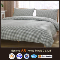 Washed Cotton 4 pieces naked sleeping beddings set quilt cover
