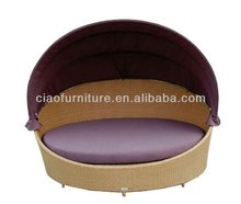 T-2013 pop rattan furniture outside sofa bed C-SL-011