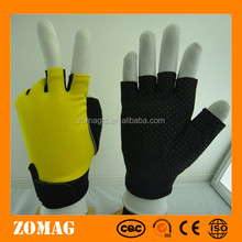 Half finger racing glove with pvc dots for anti slip