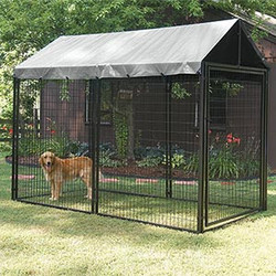 large heavy duty welded mesh dog run 10x10x 6ft animal cage for sale factory direct