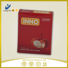 Intense Smooth Natural Latex Condoms Colored With Tropical Flavored