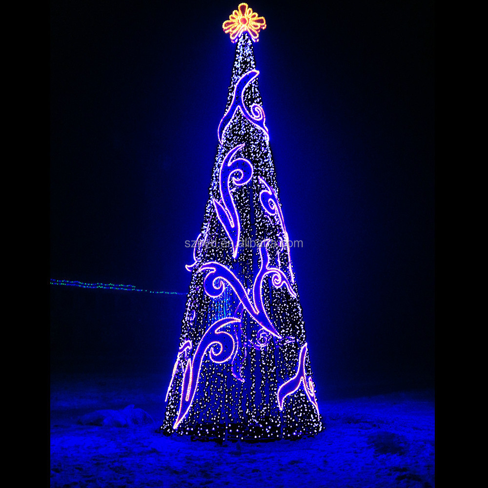 Outdoor christmas tree decorations for Led outdoor christmas ornaments