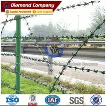 galvanized&pvc barbed wire/grass boundary galvanized barbed wire,barbed wire