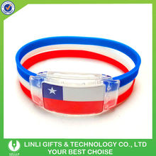 Lighting New Fashion Flag Bracelet For Chile