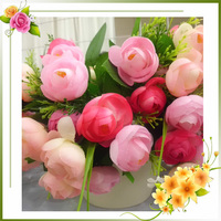 flowers artificial mini red holland roses