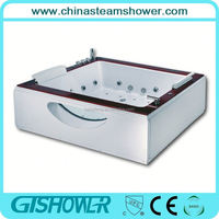 Hot sale indoor jet whirlpool bathtub with tv with cheap price