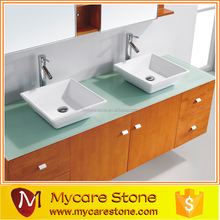 wholesale polished natural stone colors oval double bathroom sink countertop for sale