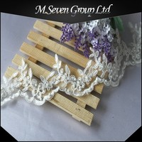 wholesale white pearls beaded lace Trims, beaded lace trim wholesale, bead trimming for wedding dress / shoes