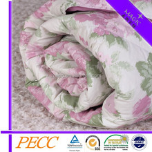 380TC Cotton Fabric With 55% Duck Down Colorful Quilt For Wholesale