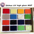 zhihua uv de alto brillo de pintura de color tablero de mdf