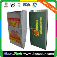 Hot sale food grade hot chicken bag, chicken take away bag