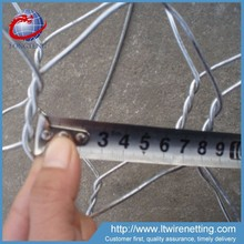 2x1x1m hot dipped galvanized gabion box stone cages for retaining wall