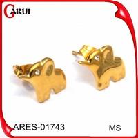 best friend birthday gift wholesale alibaba earring findings elephant and women sex jewelry gold earring stud earrings