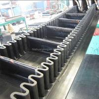 wave form raised edge sidewall block conveyer belt