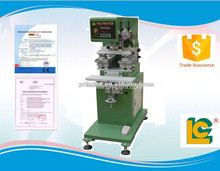 China LC brand single color double head seal cup pad printing machine for wedding card and memory card