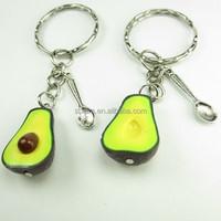 custom PVC hot avocado fruit keychain,OEM design hot eco-friendly pvc keychain,high quality custom design keychain manufacturer