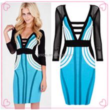 Super Long Sleeve V Neck Dress Party Dresses China Factory