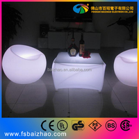 light coffee chairs leisure lounge chairs LED furniture