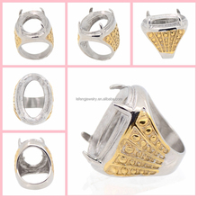 2015 indonesia hot gold ring models, natural stone men ring with wholesale price