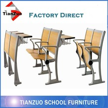 Attached School Desks and Chairs Used School Furniture For Sale WL-9082