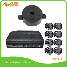 8 sensors pure buzzer car parking sensor,vw passat parking sensor,parking lot sensor system