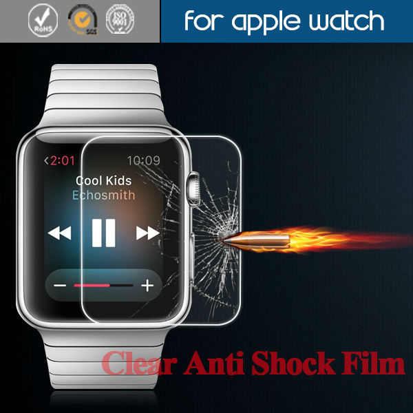 For Anti-Shock Screen Protector For apple watch , high clear Anti -shock film