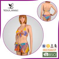 New Design Perfect Printed Polyester top brand name bikini