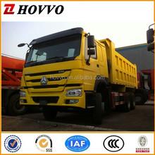 HW15710 Transmission SINOTRUK HOWO Brand Tipper Dump Truck Right Hand Driving Vehicle