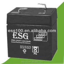 Made in china AGM 6v 1.2ah rechargeable lead acid battery
