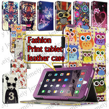New 7.9 Inch Tablets Case Printing PU Leather Media Stand Folio Cover Bag For ipad Mini 3 + Stylus