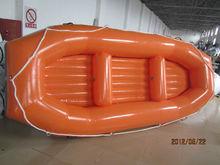 Caliente de goma inflable barco, barco por el río