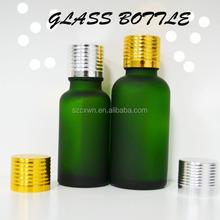 50ml Essential Oil Bottle/Vials With Euro Drip Tamper Resist Seal Silver Aluminum/Plastic Cap For Essential Oil