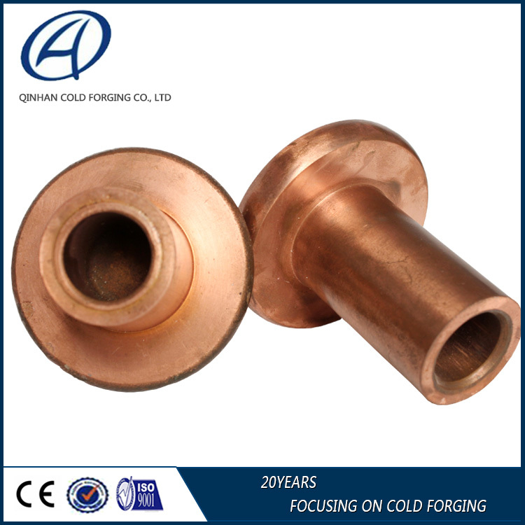Forged copper electronic expansion connector joint