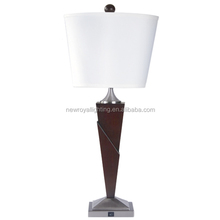 new design modern best selling hotel wooden table lamp with fabric shade