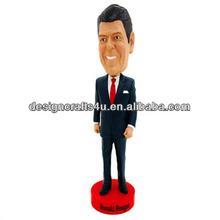 Resin Talking Bobble Head Body Ronald Reagan