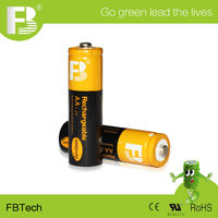 High Quality 1.2V AA 2600mAh NIMH Rechargeable Battery with CE UL and ROHS